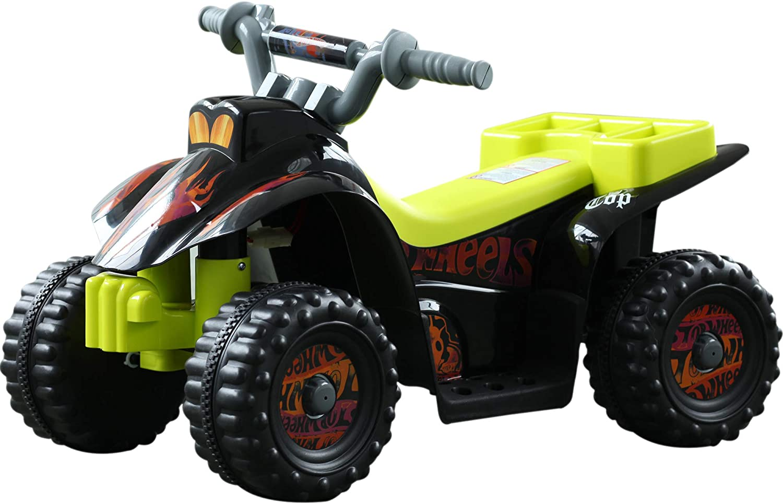 Ce quad enfant Homcom a une batterie de 6 V.