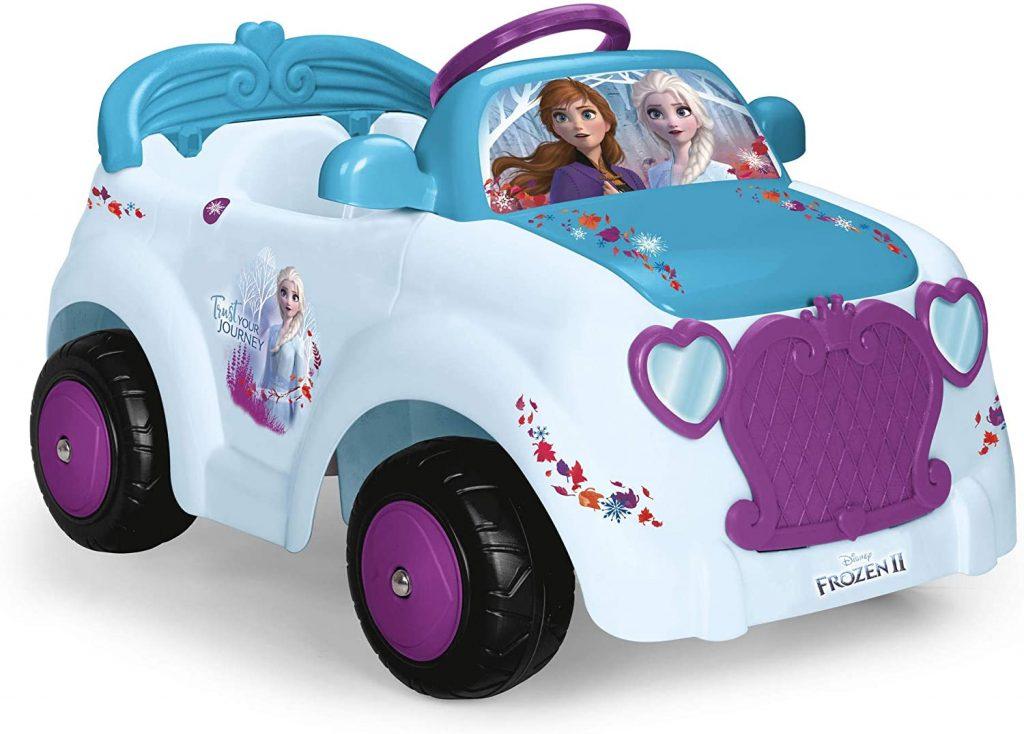 Cette voiture électrique bébé est à l'effigie de la reine des neiges 2.